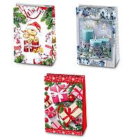 Пакет подарочный новогодний микс 47*32*15 7933
