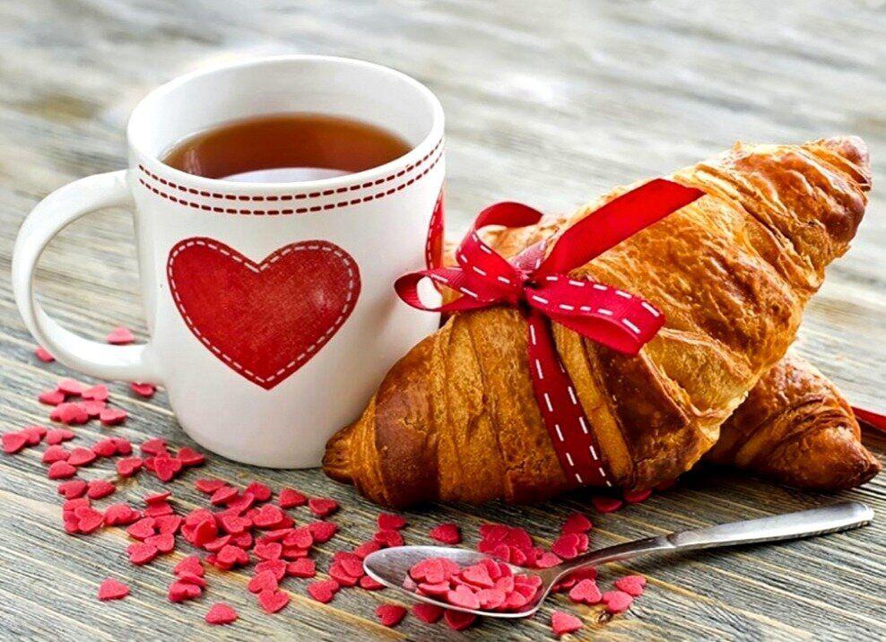 TN936 Набор алмазной мозаики на подрамнику Завтрак для любимой