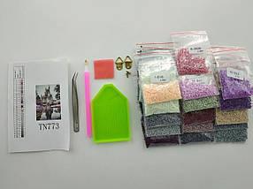 TN944 Набор алмазной мозаики на подрамнике Корабль.На встречу солнца, фото 2