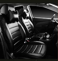 Чехлы на сиденья Рено Меган 3 (Renault Megane 3) (модельные, НЕО Х, отдельный подголовник)