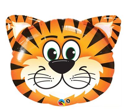 """Q 30"""" Tickled Tiger Shape. Шар воздушный фольгированный Тигренок. В уп"""