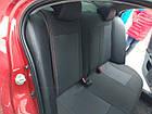 Чехлы на сиденья Рено Клио (Renault Clio) 2002 - ... г (модельные, экокожа+автоткань, отдельный подголовник), фото 3