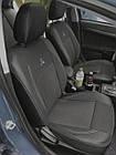 Чехлы на сиденья Рено Клио (Renault Clio) 2002 - ... г (модельные, экокожа+автоткань, отдельный подголовник), фото 5