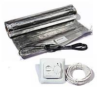 1.0м2 Тёплый пол под ламинат комплект IN-THERM алюминиевый мат + терморегулятор