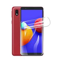 Гидрогелевая пленка для Samsung A01 Core (противоударная бронированная пленка) Матовая
