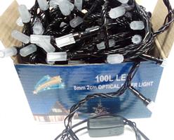 Гирлянда 100 led Optikal RG/RB color led 2-x цветов (черный провод) 8,5м