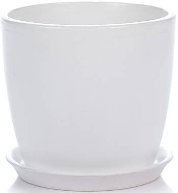 Вазон Зеленая сотка Сонет 17 х 18 см Белый (000001639)