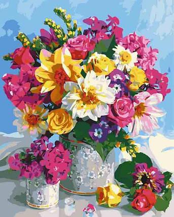 12114-AC Набір-розфарбування по номерах Квіткова веселка, Без коробки, фото 2