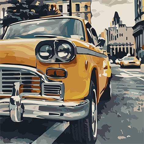 10518-AC Набор-раскраска по номерам Особое такси, Без коробки