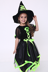 Карнавальный костюм Ведьмочка №2 (салат)
