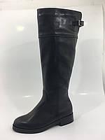 Высокие зимние ( евро зима) женские кожаные сапоги, фото 1