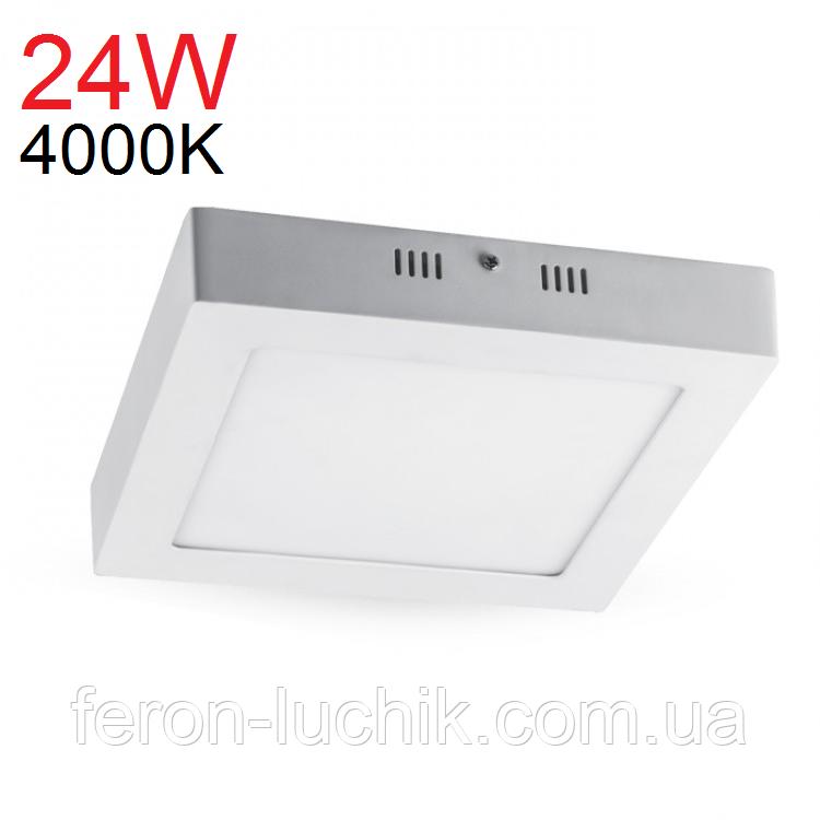 Світильник світлодіодний накладний Feron AL505 24W 4000К (LED панель)