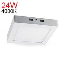 Світильник світлодіодний накладний Feron AL505 24W 4000К (LED панель), фото 1