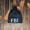 Шапка відворот тепла FBI чорна