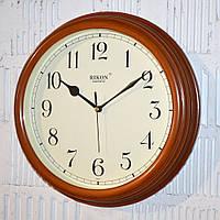 """Часы настенные """"Rikon RK3851"""" teak wood ivory (30 см.)"""