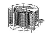 Спиральный охладитель слоек на противнях 1000 кг/ч, фото 3