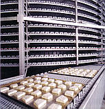 Спиральный охладитель слоек на противнях 1000 кг/ч, фото 2