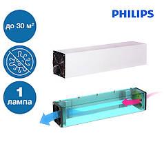 Медичний ультрафіолетовий стерилізатор повітря прилад для знезараження приміщень з однією лампою