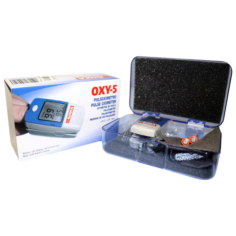 Пульсоксиметр педиатрический GIMA OXY-5 для измерения пульса, сатурации, индекса перфузии, Италия