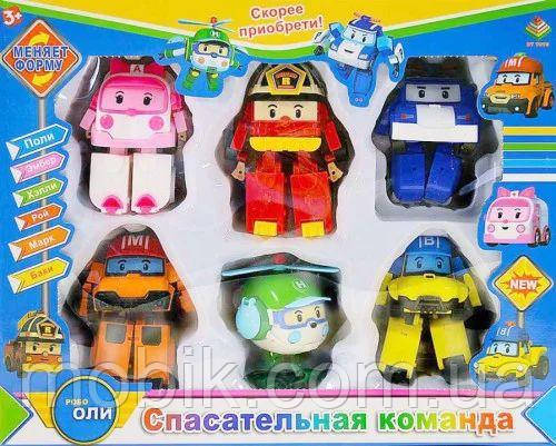 Детский игровой набор Робокар Поли из 6 фигурок DT-335B