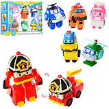 Детский игровой набор Робокар Поли из 6 фигурок DT-335B, фото 2