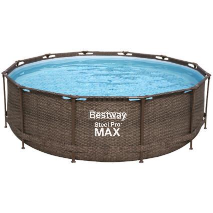 Bestway Каркасный бассейн Bestway Ротанг 56709 (366х100 см) с картриджным фильтром и лестницей
