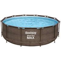 Bestway Каркасный бассейн Bestway Ротанг 56709 (366х100 см) с картриджным фильтром и лестницей, фото 1