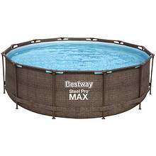 Bestway Надувний басейн Bestway Ротанг 56709 (366х100) з картриджних фільтрів