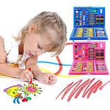 Набір художника для малювання та творчості 86 предметів рожевий, фото 2