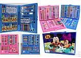 Набір художника для малювання та творчості 86 предметів рожевий, фото 3