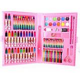 Набір художника для малювання та творчості 86 предметів рожевий, фото 4