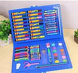 Набір художника для малювання та творчості 86 предметів блакитний, фото 4
