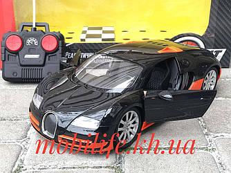 Велика машинка 33см на радіокеруванні Bugatti/Горять Фари передні і задні/Відкриваються Двері/