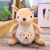 Детский плюшевый плед игрушка-подушка 3-в-1 Кенгуру
