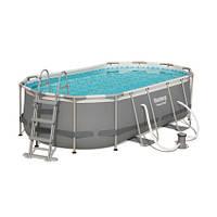 Bestway Каркасный бассейн Bestway 56620 (427х250х100 см) с картриджным фильтром и лестницей, фото 1