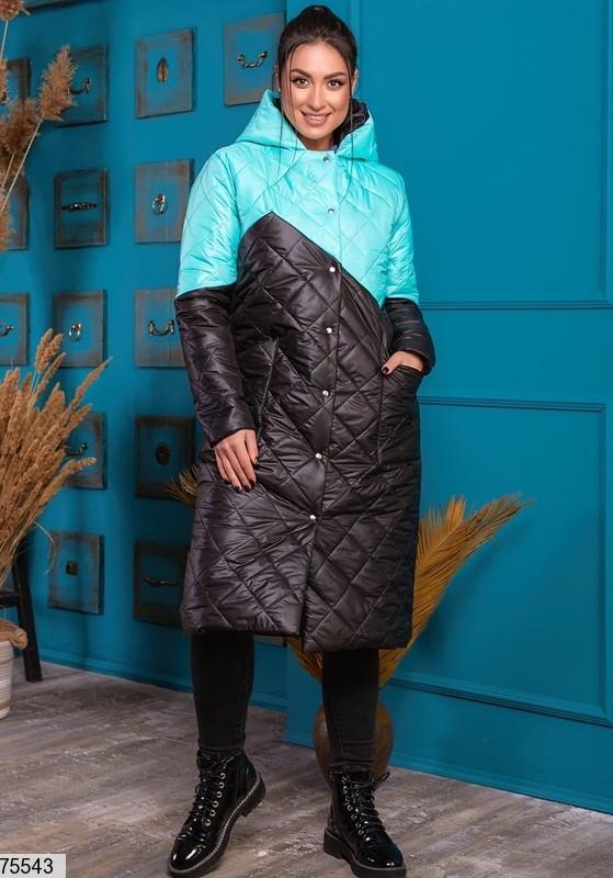 Пальто-курточка 75543 батальная