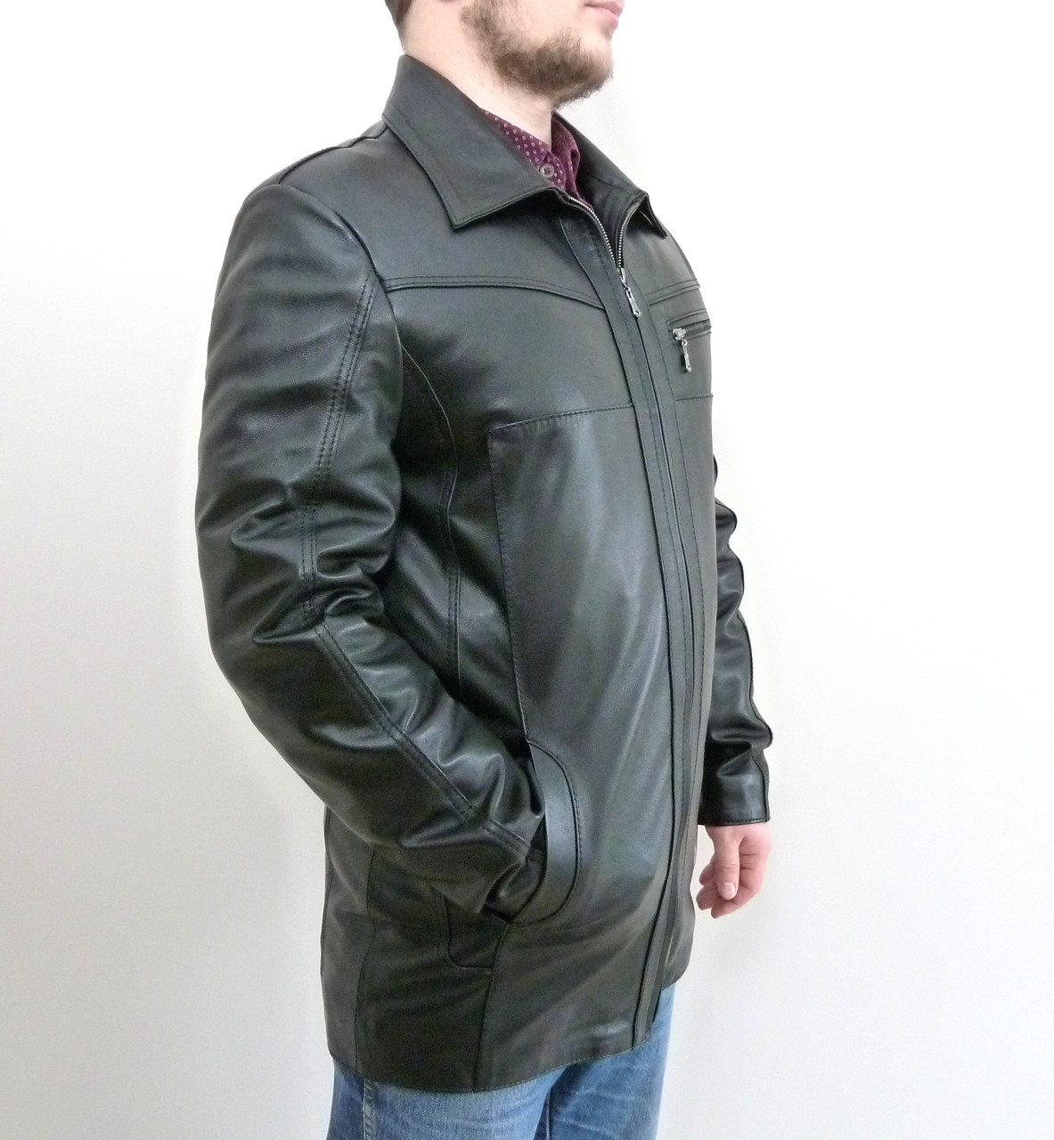 Кожаная мужская куртка KONDOR+ размер L