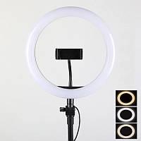 Кольцевая лампа Led 30 см со штативом и с держателем для телефона для селфи и юных блоггеров SKL11-278730