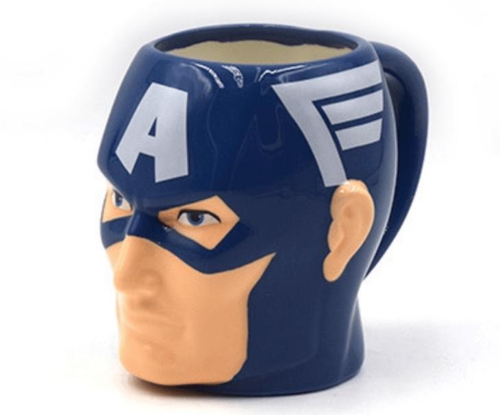 Кружка Капитан Америка фигурная чашка MARVEL ABC