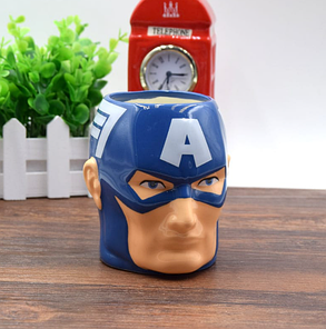 Кружка Капитан Америка фигурная чашка MARVEL ABC, фото 2