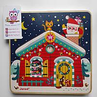"""Дерев'яна головоломка-пазл багатошаровий """"Різдвяна ніч"""" (11 деталей), 2+, фото 1"""