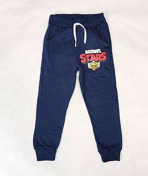 Бравл Старс brawl stars утепленные спортивные теплые штаны для мальчика синий 5-6 лет, фото 2