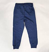 Бравл Старс brawl stars утепленные спортивные теплые штаны для мальчика синий 5-6 лет, фото 3