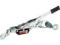 Лебедка ручная, тяга - 2 т, подъем - 0,8 т, двойное храповое колесо MTX 522609