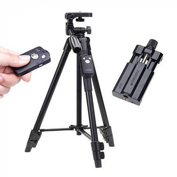 Штатив VCT-5208 UTM для телефона, камеры и фотоаппарата с bluetooth пультом (125 см)