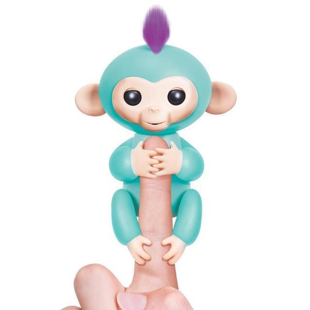 Интерактивная игрушка обезьянка Fingerlings Baby Monkey Бирюзовый