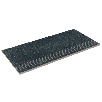 Aquaviva Бортовая прямая плитка Aquaviva Granito Black, 595x289x20 мм