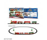 "Железная дорога батар. 1600A-7B ( ""Merry Christmas"" 22 дет.,свет,звук,в коробке 49,5*32,5*6см(1600A-7B)"