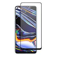 Защитное стекло LUX для Realme 7 Pro Full Сover черный 0,3 мм в упаковке