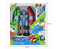Конструктор магнитный HQ2260A  Мега робот трансформер, 5 машин + робот . Свет, Звук, 5в1, в(HQ2260A)